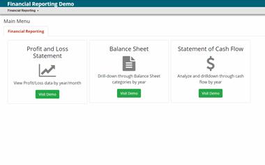 Financial Reporting Portal Demo